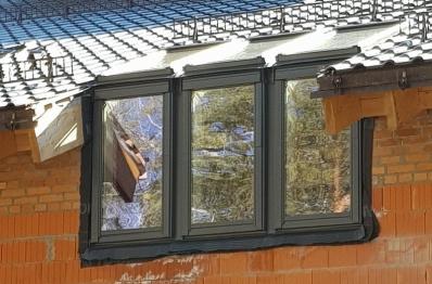 Установка карнизных окон в КП Дубрава, нестандартная комбинация