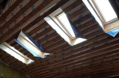 Мансардные окна Велюкс в частном доме, п.Кашино