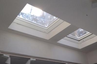 Зенитные окна. Работы по установке, фото