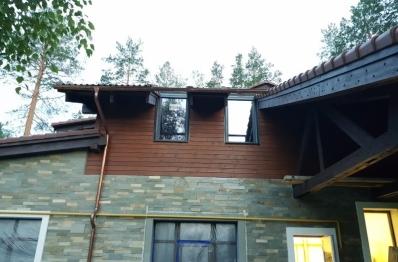 Мансардные окна Velux в частном доме, КП Образцово